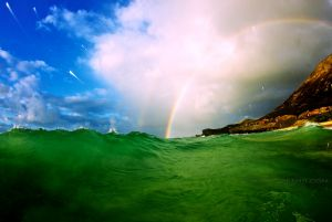 Rainbow Hawaii / Rainbow Wave Photo